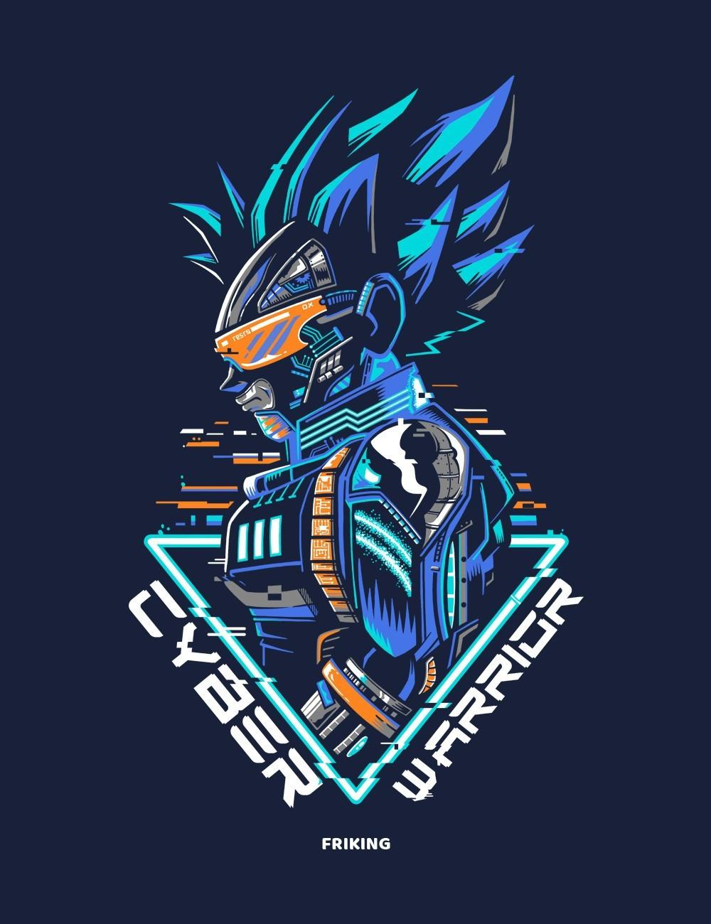 Camiseta inspirada en Goku, Ciber Warrior